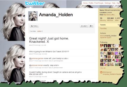 Amanda Holden on Twitter