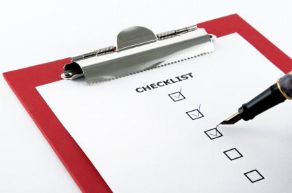Online checklist