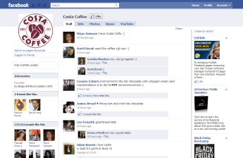 Costa Coffee on Facebook