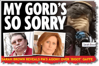 Gordon Brown Gaffe