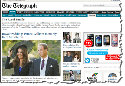 Prince William and Kate Middleton in the news