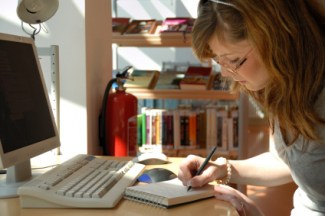 There may be books on the shelf, but young people prefer online learning