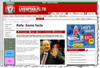 Liverpool looks to the facts; you should look to the facts too about search engine ranking