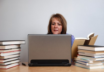 Surround yourself withbooks to write better blogs