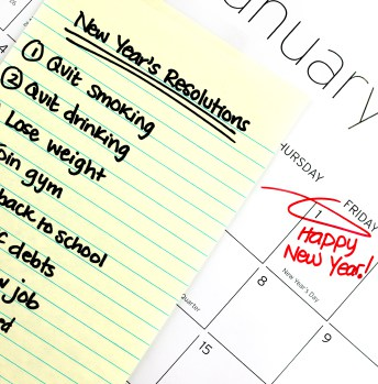 You can stick to your New Year resolutions if you try