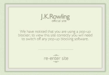 J K Rowling Website