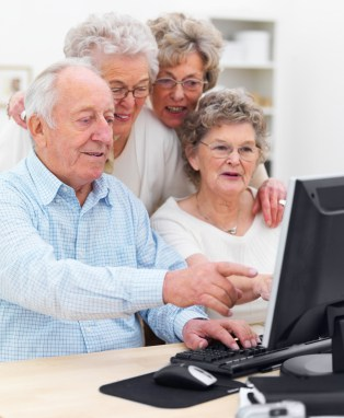 When seniors use online social networks they could well be improving their health