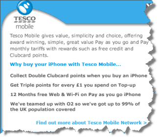 Tesco focuses on value rather than price for the iPhone