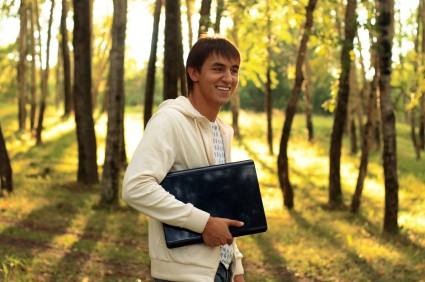 Taking your laptop for a walk may not be as daft as it sounds