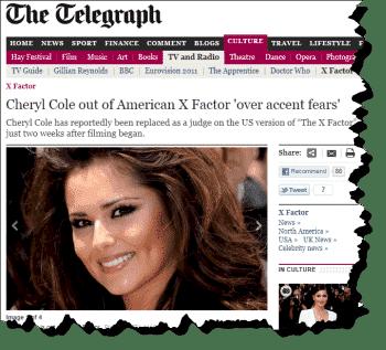 Cheryl Cole Sacked