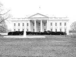 The White House pencil drawing - web page graphics
