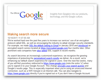 Google Blog on Secure Search