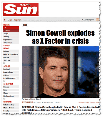 Simon Cowell shows how to get traffic