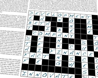 Online success could be boosted by crossword puzzles