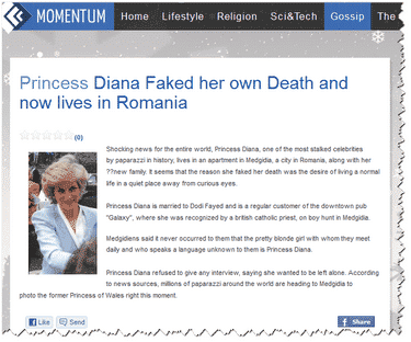 Did Princess Diana fake her own death?