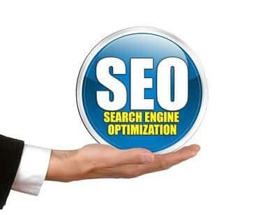 The Word SEO in an upturned palm depicting SEO is in your hands
