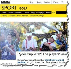 Ryder Cup Victory And Your Website