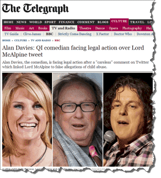 Alan Davies May Be Sued