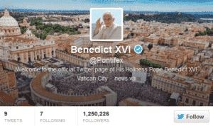 The Pope on Twitter