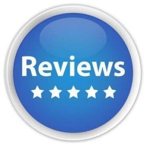 "s""Reviews"" blue button"
