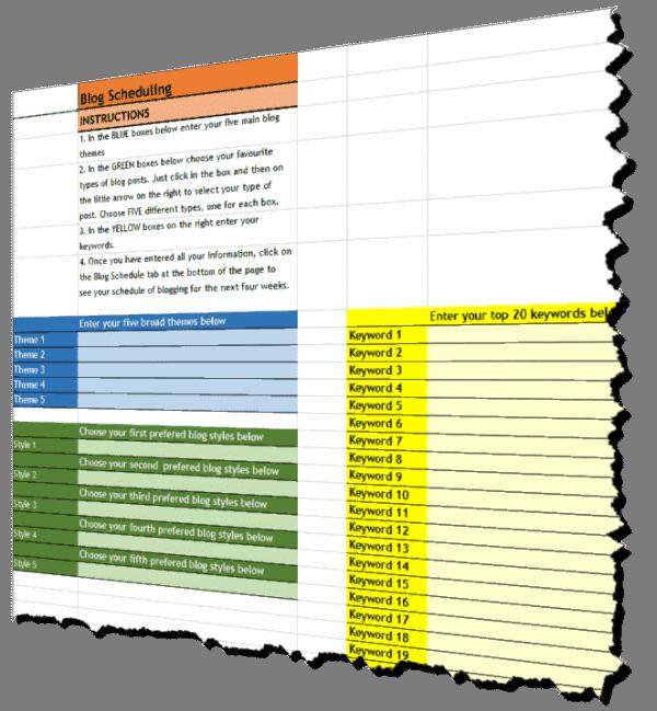 Blog Planning Tool