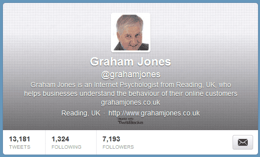 Graham Jones on Twitter