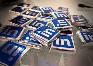 LinkedIn Logo on Chocolate Wrappers
