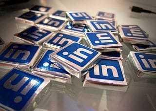 LinkedIn Logo on Chocolate Wrappers