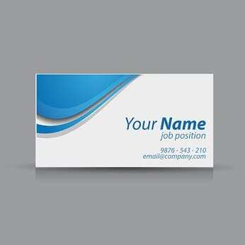 A typical business card