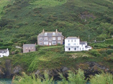 House in Port Isaac supposedely the home of fictional TV charcter Dr Martin