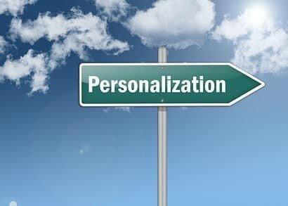 """Signpost """"Personalization"""""""