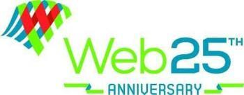 The official Web at 25 logo