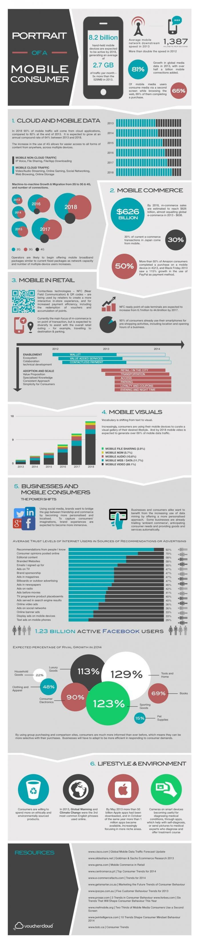 Infographic on Mobile Consumers