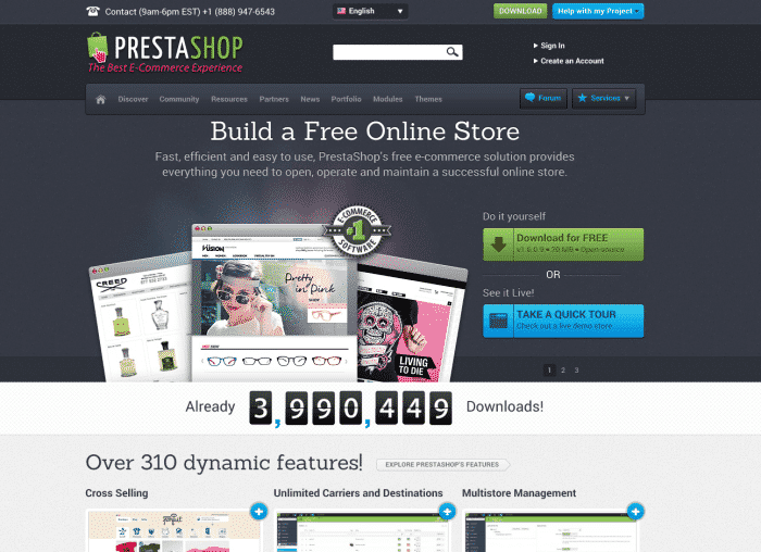 PrestaShop Screen Shot