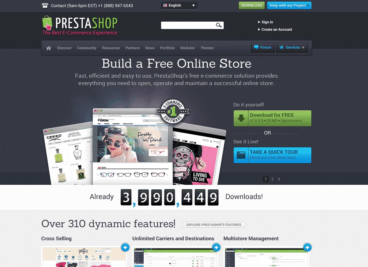 PrestaShop Screen Shot