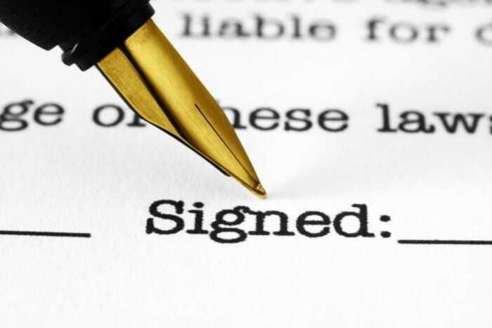 Fountain pen signature