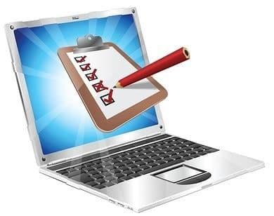 Online survey clipart