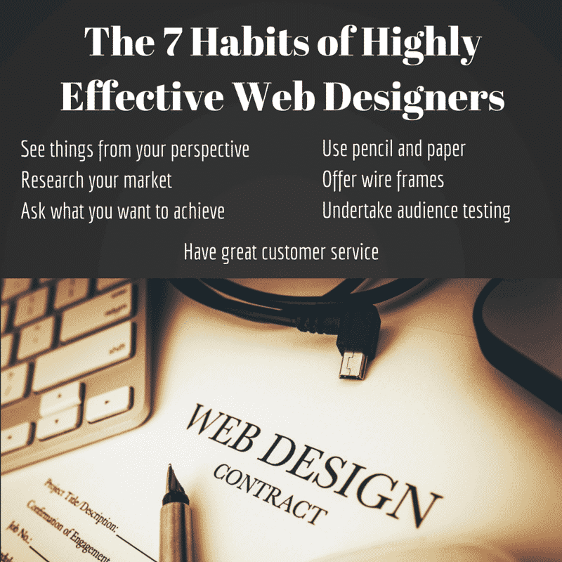 The 7 Habits of Highly Effective Web Designers