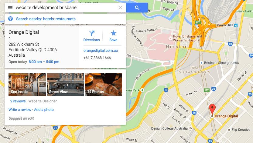 Google Business Screen Shot