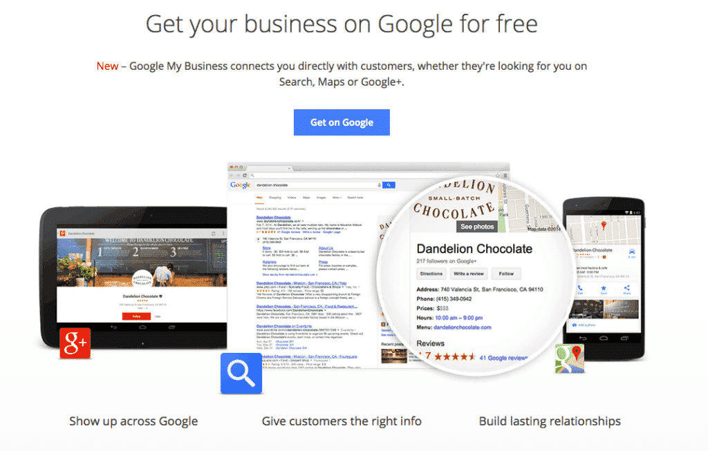 Google Business Screen Shot