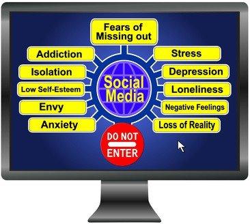 Social Media Stress Concept