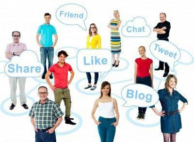 Social media sharing concept