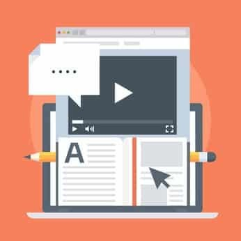 Web page design with video