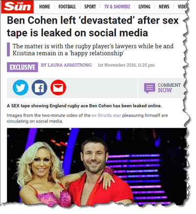 Ben Cohen in The Sun newspaper