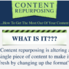 Infographic on content repurposing