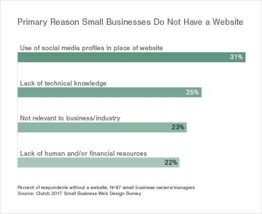 Reasons why businesses do not have websiets