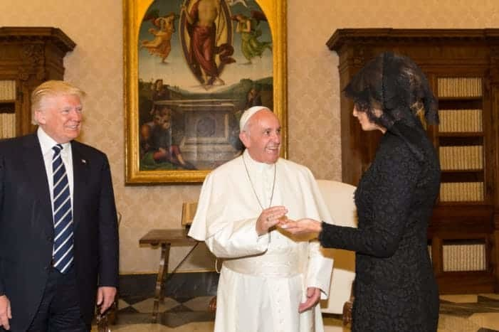 The Pope meets the Trumps