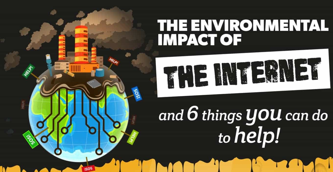 Infographic on environment and the internet