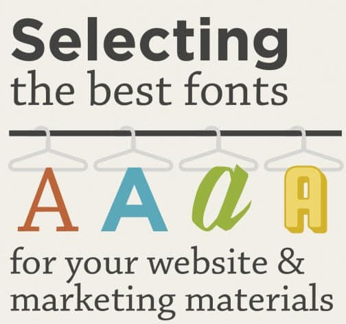 Infographic - best fonts