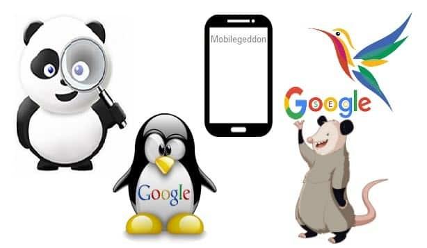 Google updates concept